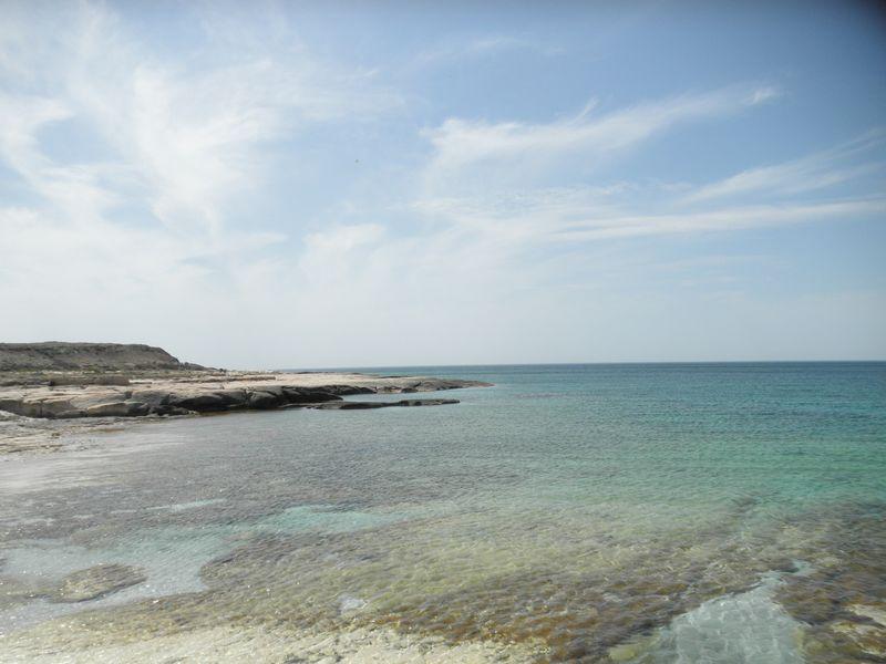 Каспийское море. Мангистау. Ракушечный пляж. Caspian Sea. Mangistau. Shell beach.