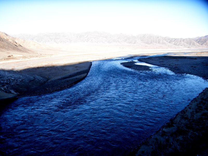 Бартогайское водохранилище. Река Чилик. Bartogai reservoir. Chilik River.