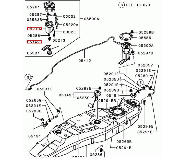 Фильтр топливный для Mitsubishi Pajero. Fuel filter for Mitsubishi Pajero.