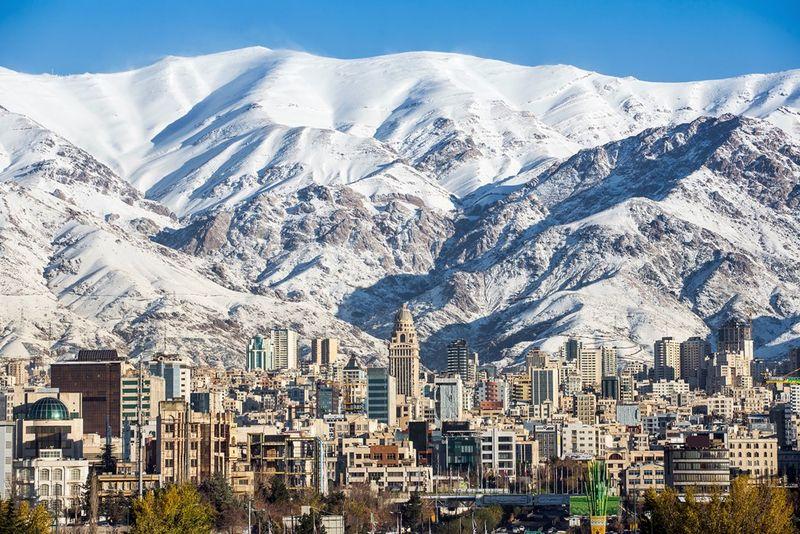 Тегеран. Столица Исламской Республики Иран. Tehran. The capital of the Islamic Republic of Iran.