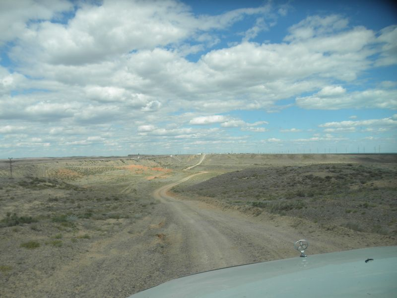 Казахстан. Озеро Балхаш. Дорога к посёлку Актогай. Kazakhstan. Lake Balkhash. The road to the village of Aktogay.