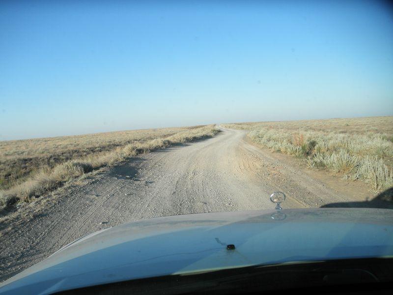 Казахстан. Озеро Балхаш. Дорога от Актогая до Лепсы. Kazakhstan. Lake Balkhash. The road from Aktogay to Lepsy.