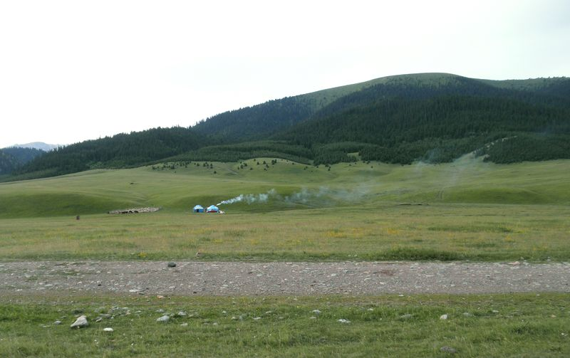 Долина реки Шалкудысу. Горы Кетмень. Казахстан. Valley of the river Shalkudysu. Ketmen mountains. Kazakhstan.