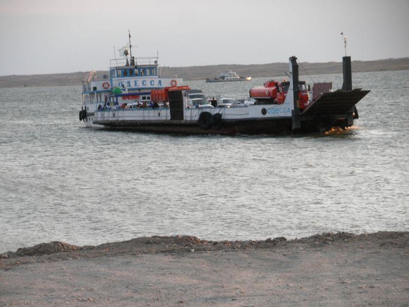 "Паром ""Одесса"". Переправа через Иртыш. Восточный Казахстан.Ferry ""Odessa"". Crossing the Irtysh. Eastern Kazakhstan."