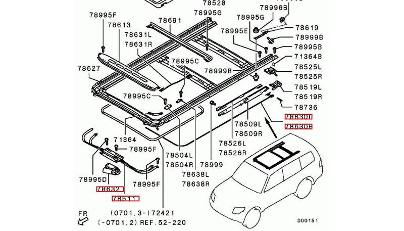 Люк крыши Mitsubishi Pajero. Проблемы и ремонт. Mitsubishi Pajero sunroof. Problems and repairs.